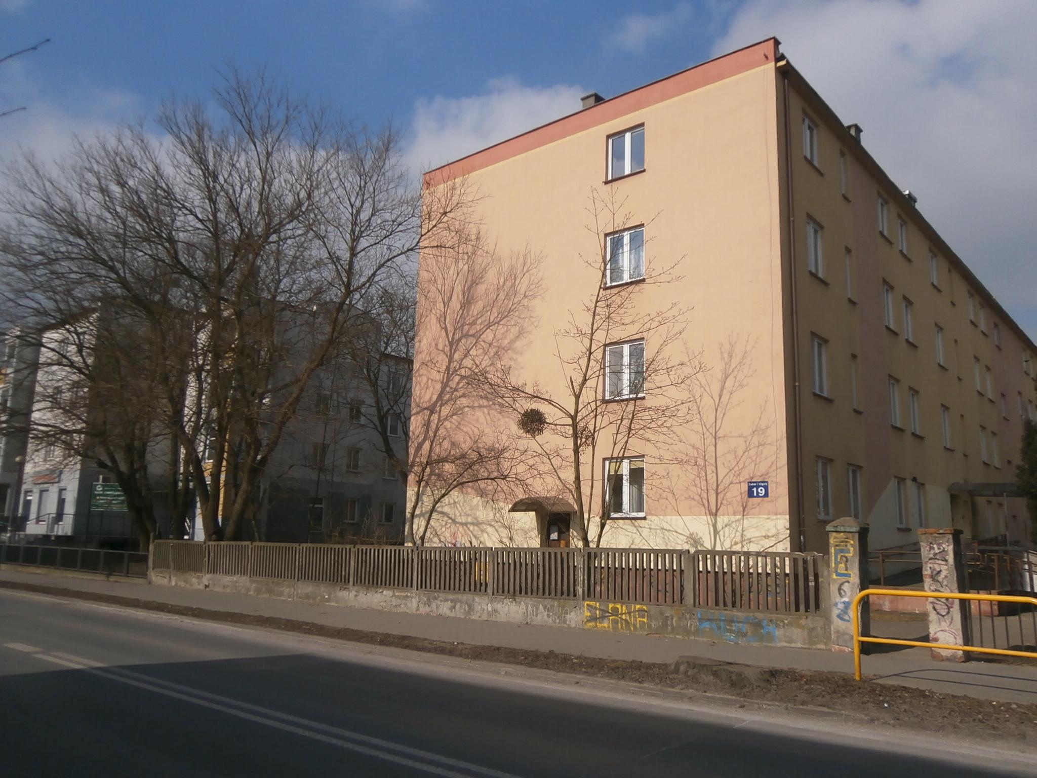 ul. Żwirki i Wigury 19/na ogrodzeniu + ściana budynku